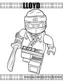 Ninja Lloyd coloring page