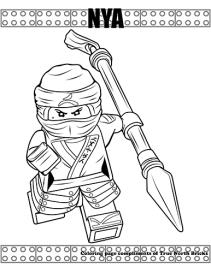 Ninja Nya coloring page