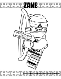 Ninja Zane coloring page