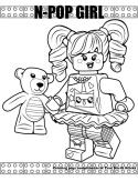 N-Pop Girl coloring page