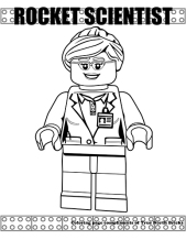 Rocket Scientist coloring page.