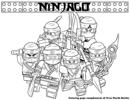 Secret Ninja Force coloring page.