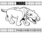 Warg coloring page.