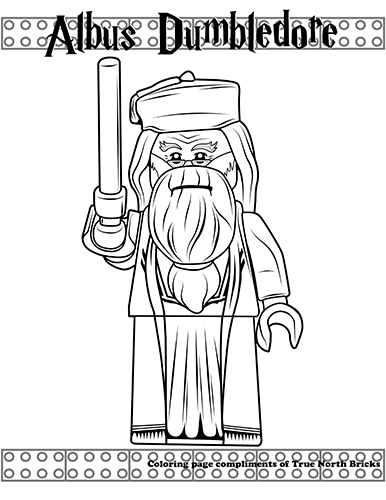 Coloring Page Albus Dumbledore
