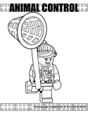 Animal Control Officer coloring page