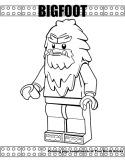 Bigfoot coloring page