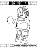Kickboxer coloring page