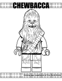 Chewbacca coloring page.
