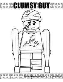Clumsy Guy coloring page