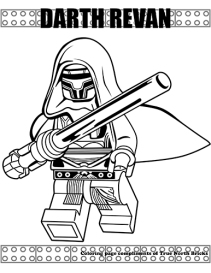 Darth Revan coloring page