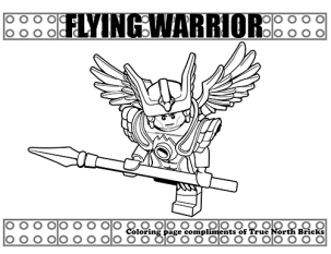 Flying Warrior coloring page