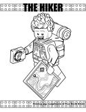 Hiker coloring page
