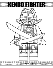 Kendo Fighter coloring page
