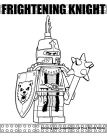 Frightening Knight coloring page