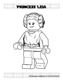 Princess Leia coloring page.