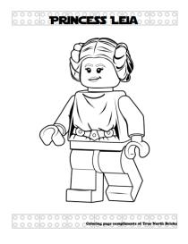 Princess Leia coloring page.
