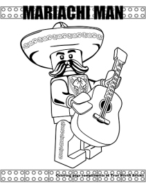 Mariachi Man coloring page