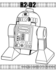 R2-D2 coloring page
