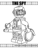 Spy coloring page