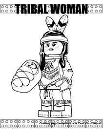 Tribal woman coloring page