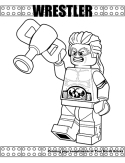 Wrestler coloring page