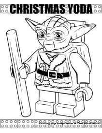 Christmas Yoda coloring page.