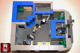 Ovehead view of level 3 of my police station.