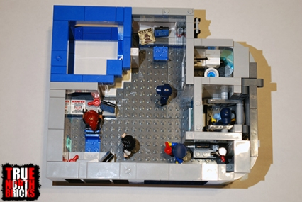 Overhead view of level 4 of my custom police station.