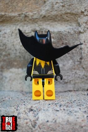 Rear view of Yellow Lantern Batman
