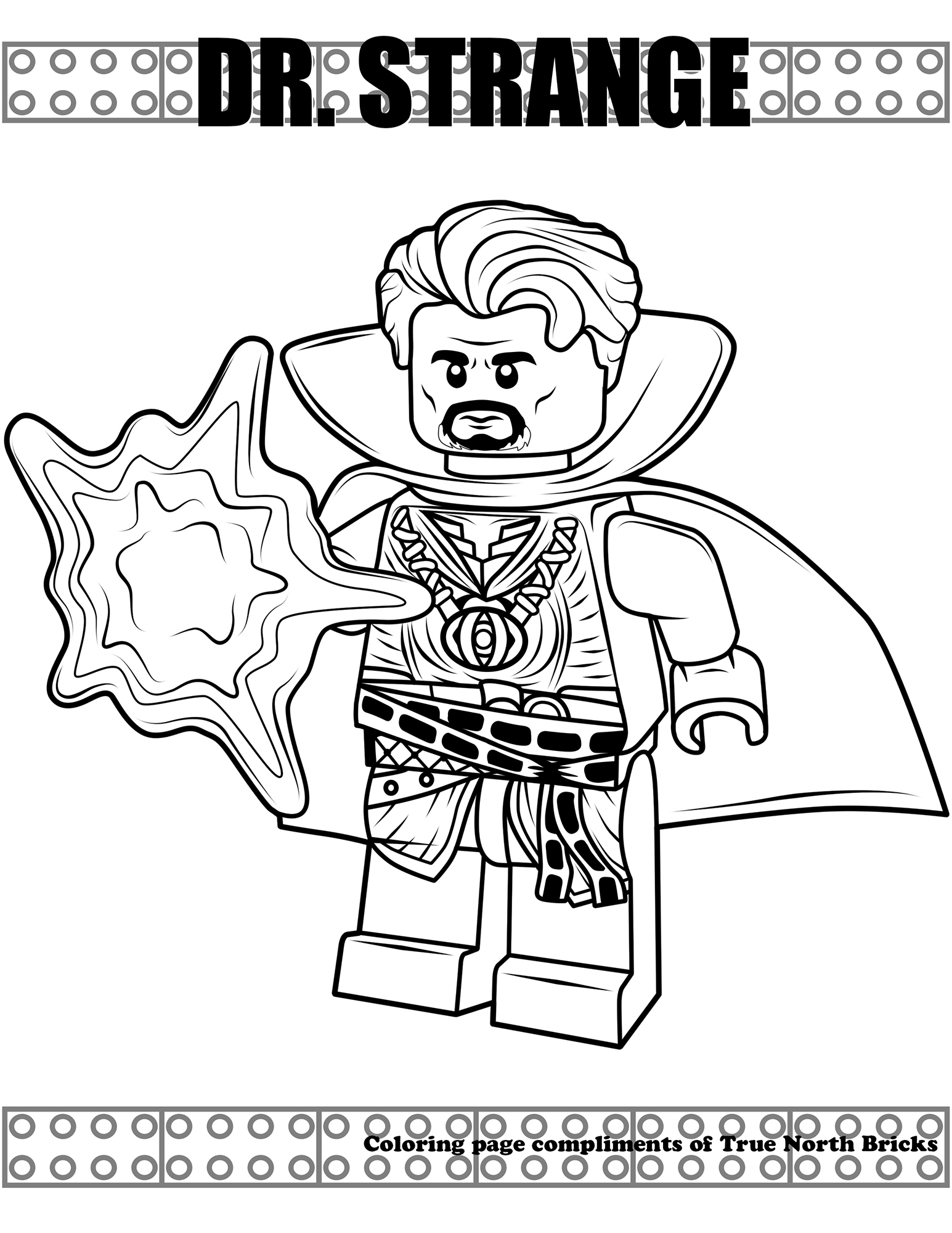 Coloring Page Dr Strange True North Bricks
