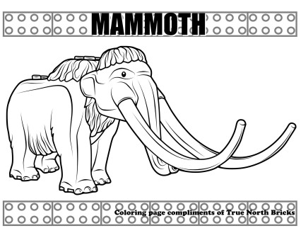 This is a sample of the mammoth coloring page.