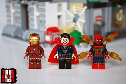 Front view of the heroes of the Sanctum Sanctorum Showdown.