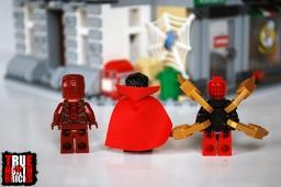 Rear view of the heroes of the Sanctum Sanctorum Showdown.