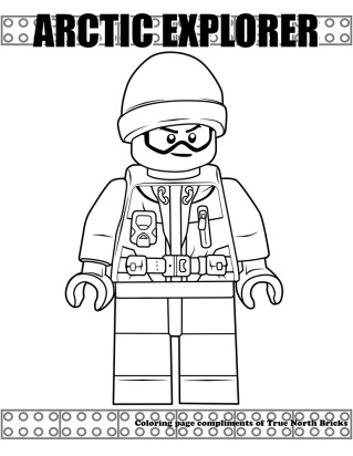 Sample of Arctic Explorer coloring page.