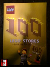 Golden commemorative poster and Minifigure.