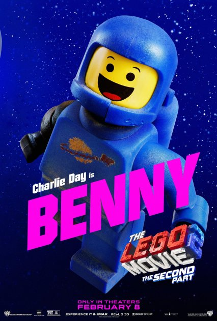 Official LEGO® Movie 2 Benny poster.