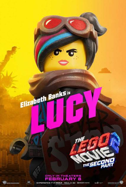 Official LEGO® Movie 2 Lucy poster.