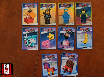 The LEGO Movie 2 trading cards that I got.