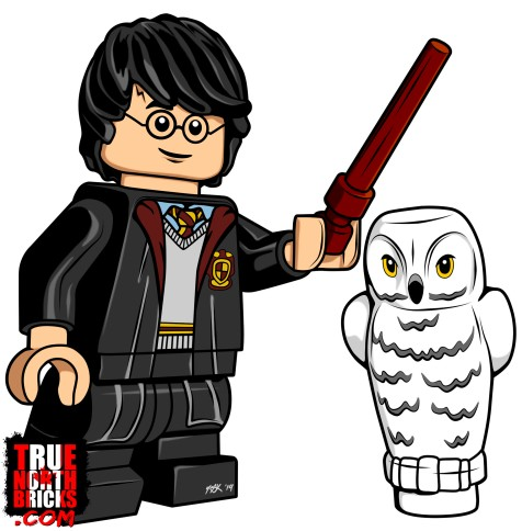 Harry Potter coloring page from True North Bricks