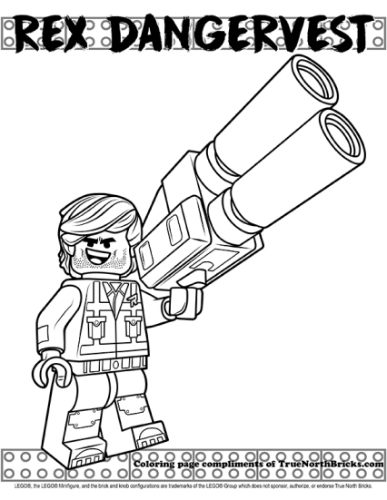 Sample of the Rex Dangervest coloring page.